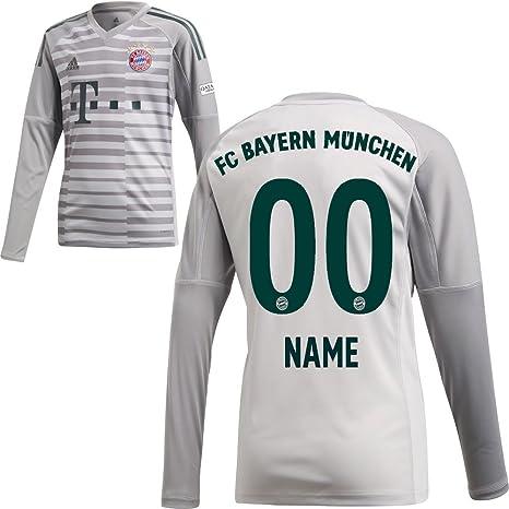 adidas FC Bayern München FCB Heim Torwart Trikot 2018 2019 mit Aufdruck