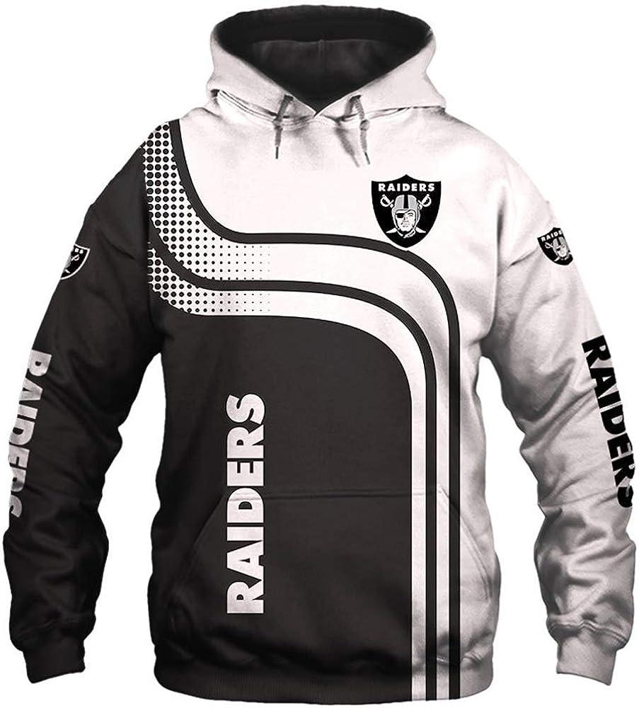 domorebest NFL Jersey Las Vegas Oakland Raiders Sudaderas con Capucha/Camiseta Sudadera de fútbol Americano con impresión 3D Unisex: Amazon.es: Ropa y accesorios