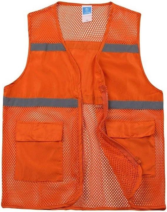 Zipper safety vestHigh Visibility Mesh Safety Vest