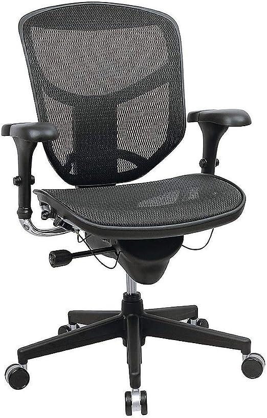 Amazon.com: WorkPro(R) Quantum 9000 Series Ergonomic Mid-Back Mesh/Fabric Chair, Black: Furniture & Decor
