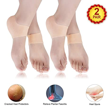 fast delivery shoes for cheap sneakers for cheap ARADENT™ Silicone Gel Heel Socks for Dry Hard Cracked Heel ...