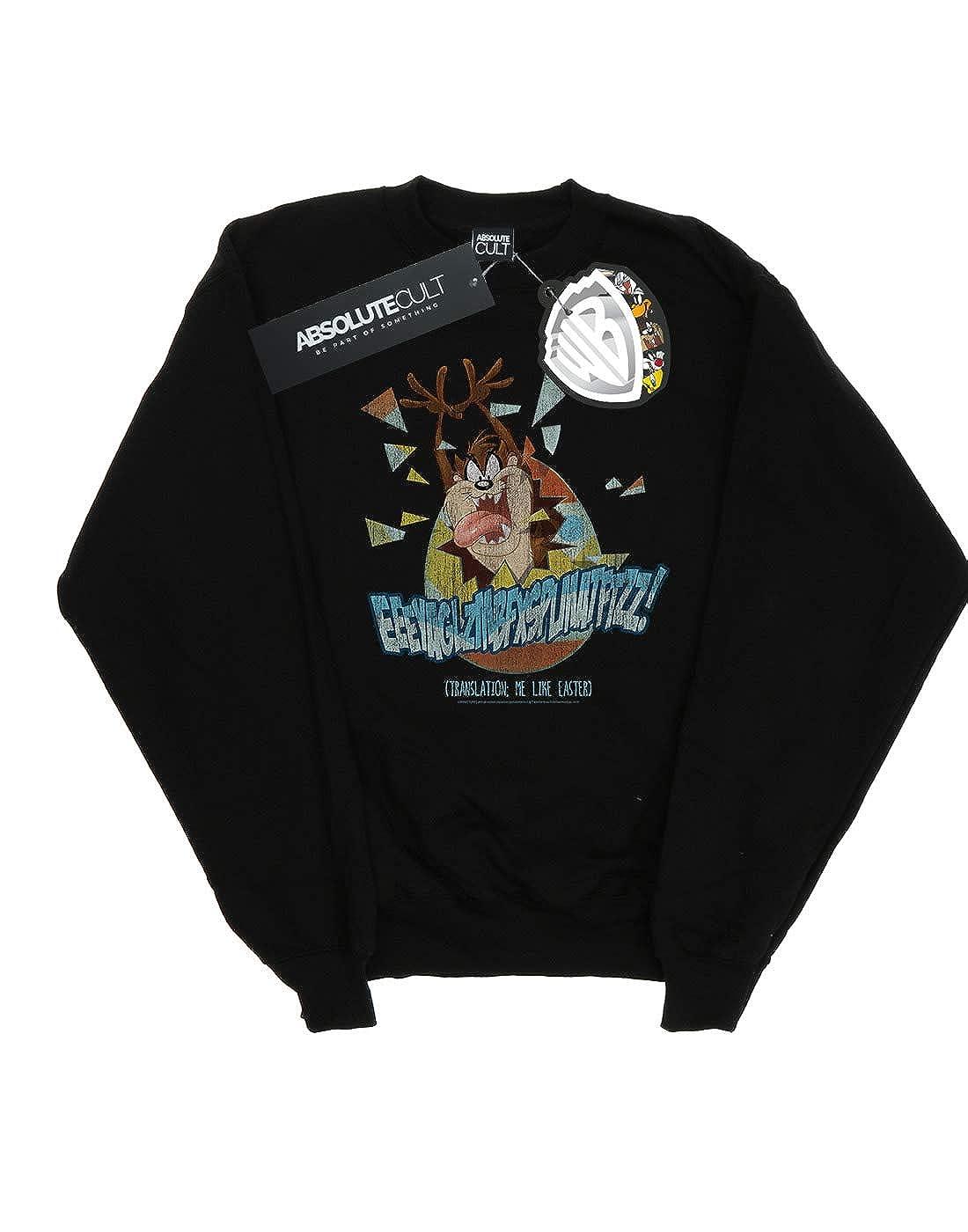 Absolute Cult Looney Tunes Girls Taz Me Like Easter Sweatshirt