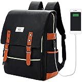 リュックサック バックパック メンズ ショルダーバッグ USB ポート搭載14インチPCリュック レディース 盗難防止 男女兼用通学通勤(ブラック)