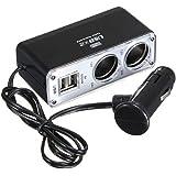 WINOMO Voiture chargeur double USB auto à 2 voies répartiteur adaptateur allume-cigare