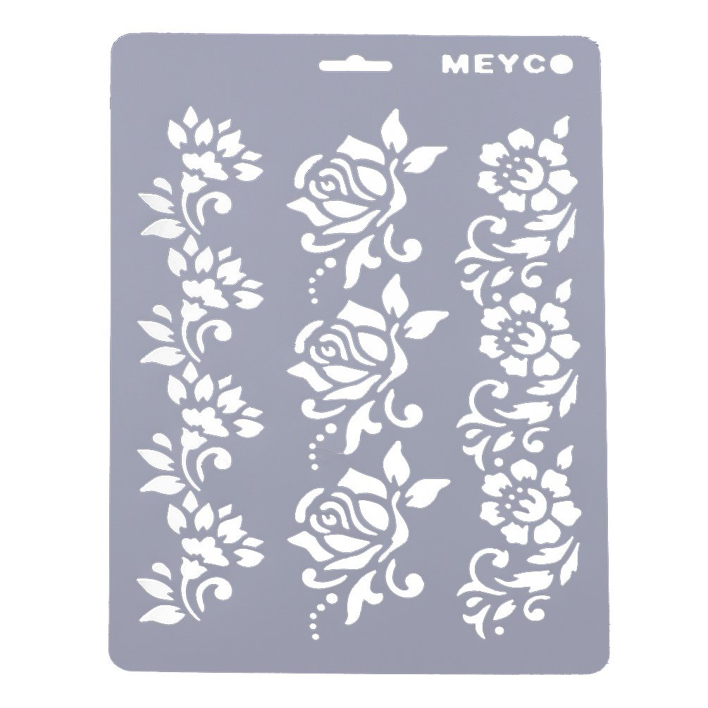 YNuth DIY Stencil Decorazioni modello riutilizzabile Template per Parete Pittura Design Craft Modivo rose Regalo