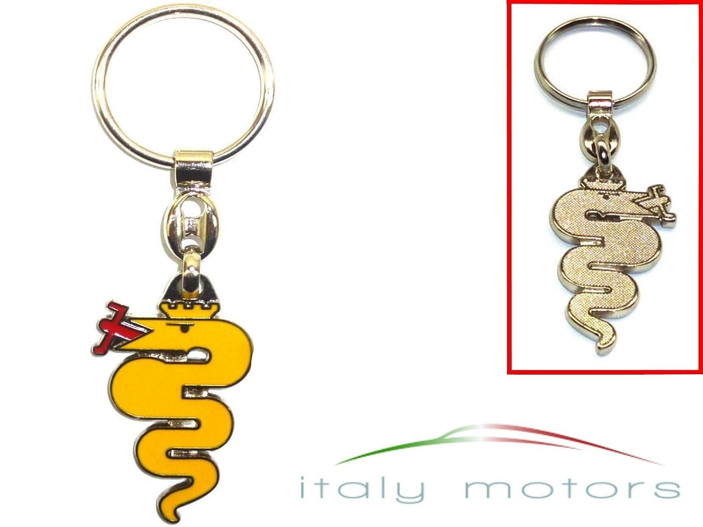 ALFA ROMEO llavero serpiente amarillo: Amazon.es: Coche y moto