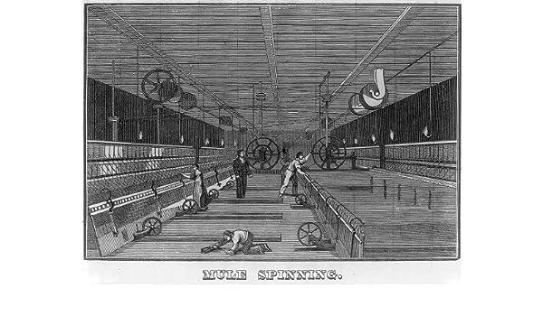 Foto: Mule Spinning, molino, Memoirs of Samuel Slater, 1836 ...