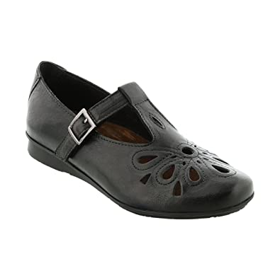 Taos Footwear Women's Garden Black Leather Shoe 37 M EU / 6-6.5 B(