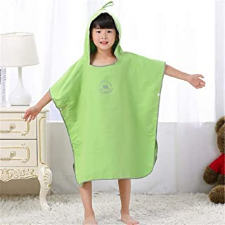 Hooded Kids Towel Kids Microfiber Changing Robe Towel Hood Poncho Beach Towel Quick Dry Bathrobe for Surfing Diving Swimming