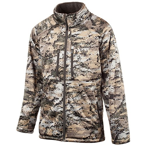 Soft Shell Half Zip Pullover - Huntworth Men's Heavy Weight Soft Shell Jacket, Disruption,Medium