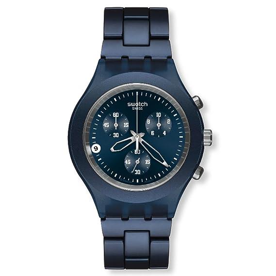 Swatch SVCN4004AG - Reloj analógico de caballero de cuarzo con correa de aluminio azul: Swatch: Amazon.es: Relojes