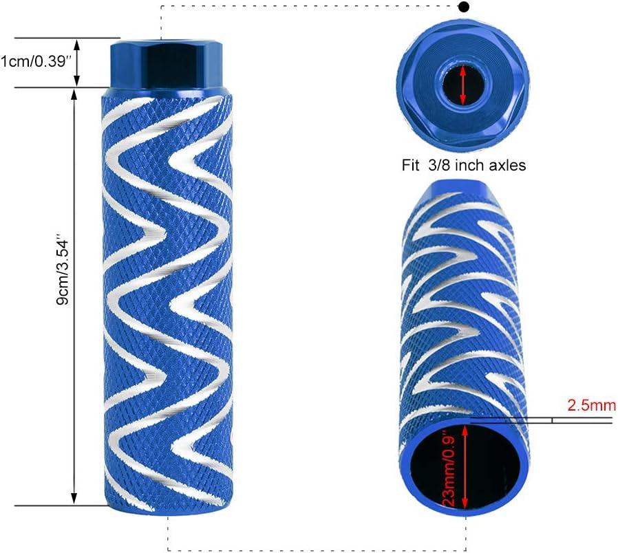 2 Pcs Alloy Bike Pegs BMX Pedals Fit 3//8 inch Axles Six Colors