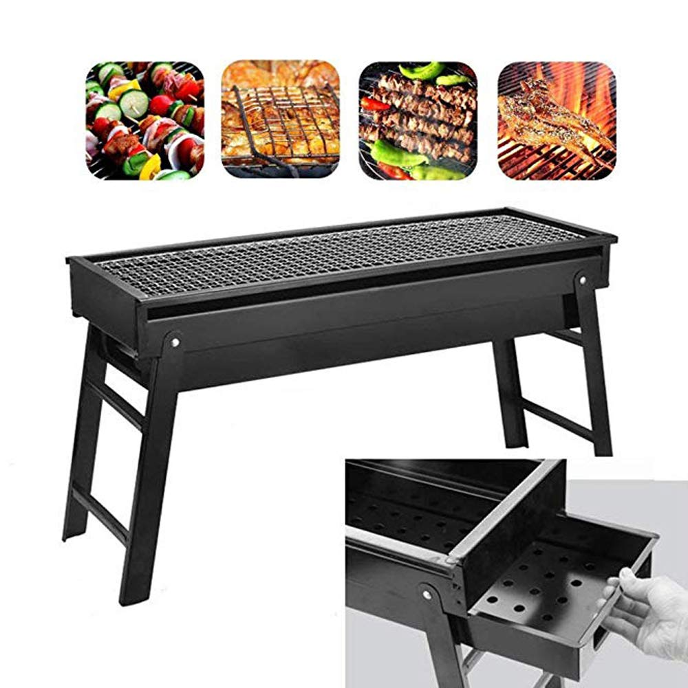 Evoio Barbecue Grill Stove Folding Charcoal BBQ Grill Cooking Tools Portable Home Outdoor