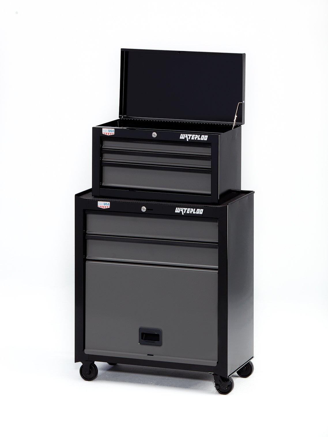 Waterloo W100 Series 5-Drawer Rolling Tool Center, 26'' - Designed, Engineered & Assembled In the USA by Waterloo