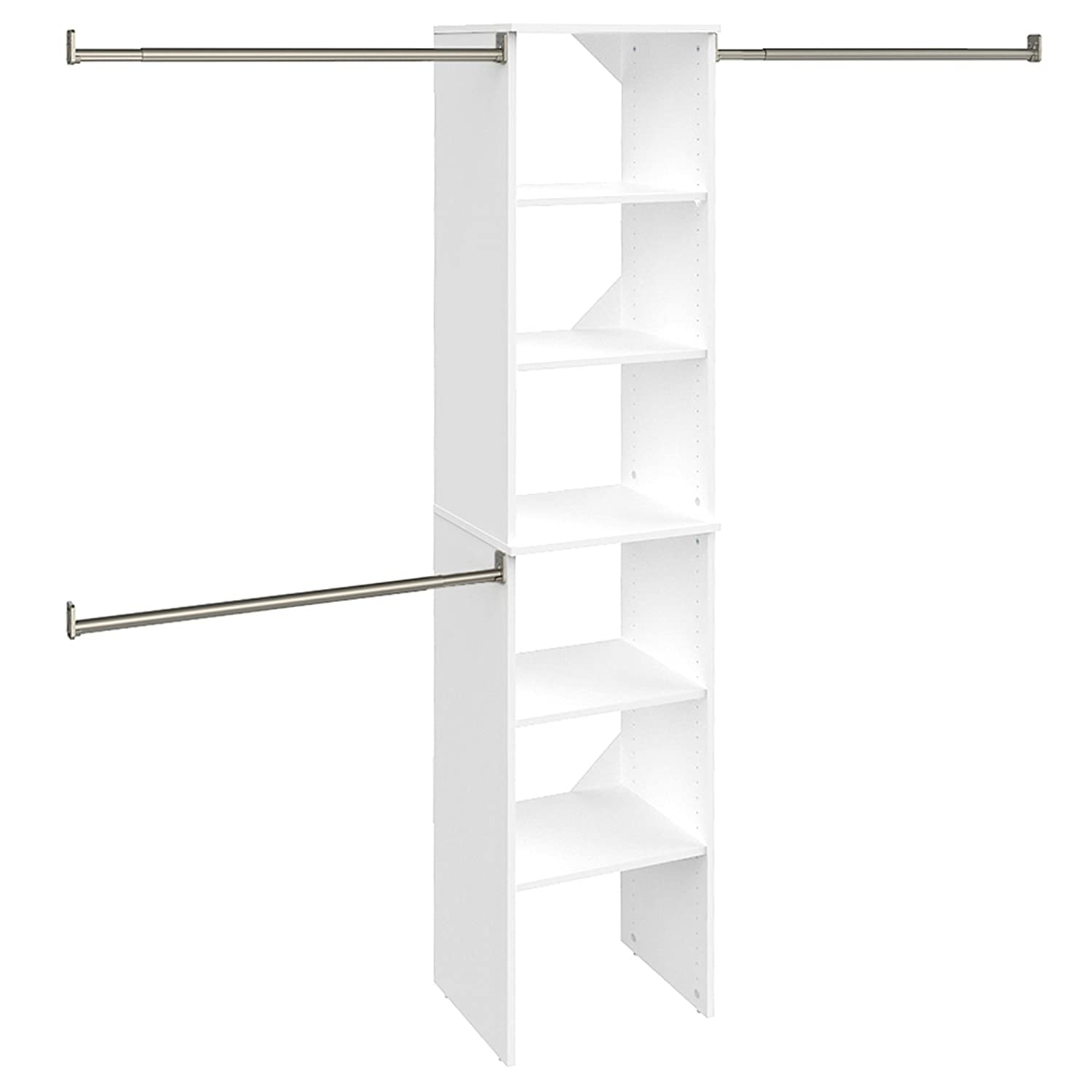 ClosetMaid 4868 SuiteSymphony 16-Inch Starter Tower Kit, Pure White