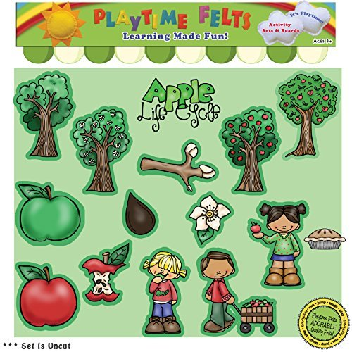 Apple Life Cycle Felt Figures for Flannel Board - Uncut
