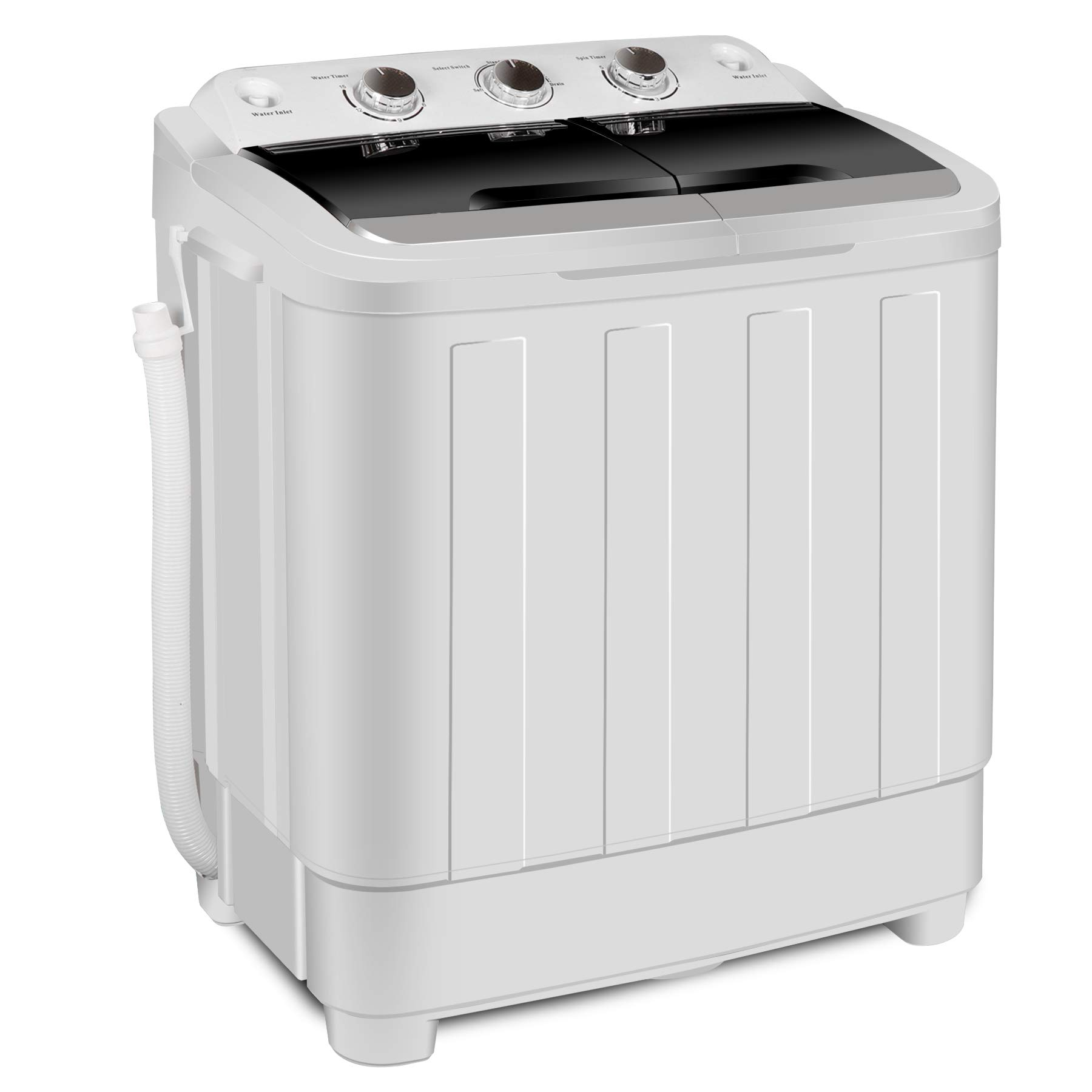 ZENY Portable Mini Compact Twin Tub Washing Machine Washer Spain Spinner 17.6lbs Capacity