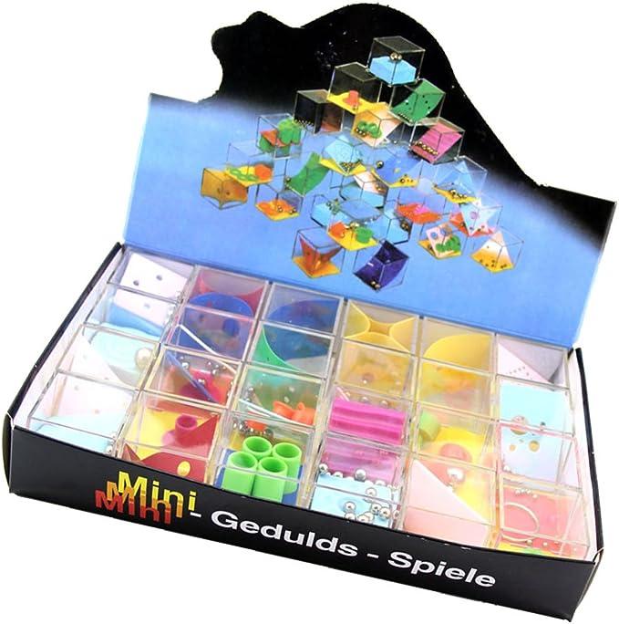 MagiDeal 24 Unids / Set de Juguete de Equilibrio de Bola Laberinto Juego Puzzle Juguete Educativo para Niños: Amazon.es: Juguetes y juegos