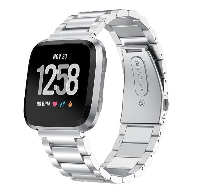 Correa de Reloj Reemplazo, YpingLonk Adecuado para Fitbit Versa Moda Pulsera Tres Cuentas Ajustable Cómoda y Durable Banda Relojes Lanzamiento Rápido ...