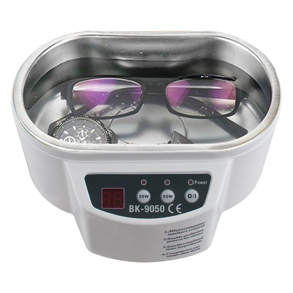 Zorvo Digital 600ml Mini Ultrasonic Cleaner Washer for Jewelry Glasses Watch Lens Eyeglasses Dentures Cleaning Machine 30W/50W