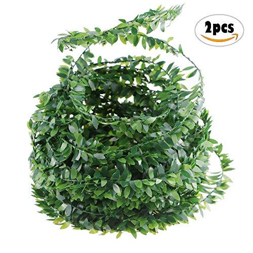 2PCS Acmer 7.5M Fake Vine for Wedding Party Ceremony Headbands,Artificial Ivy Garland Foliage Green (Foliage Garland)