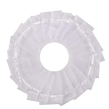 Amazon.com: 100 bolsas transparentes de organza con cordón ...