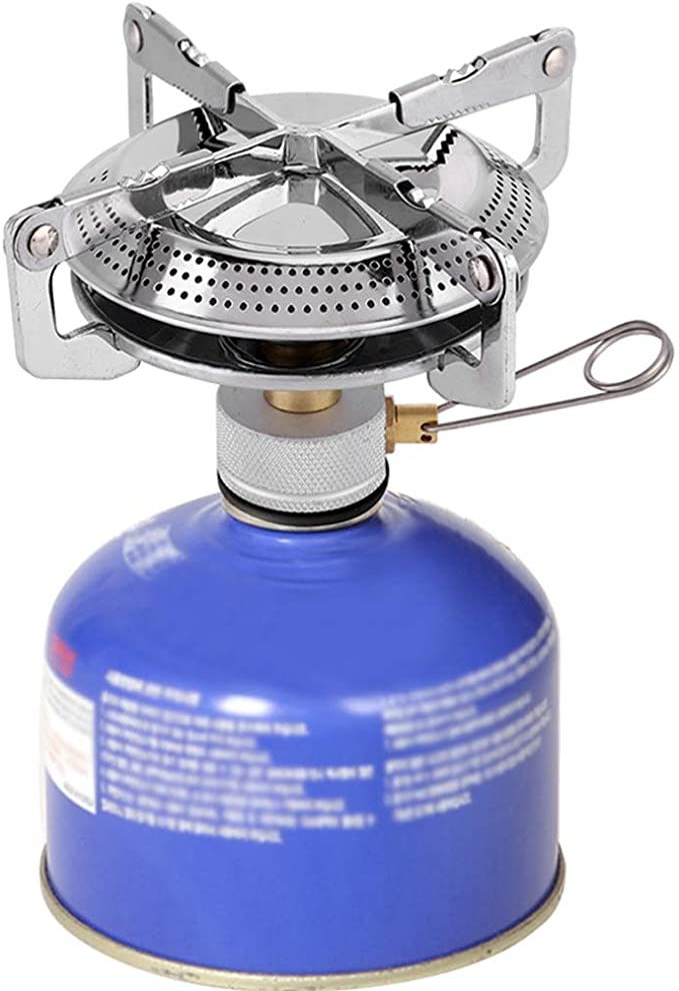 VGEBY1 Mini Estufa para Acampar, Portátil Plegable Estufa de Gas al Aire Libre Horno Picnic Cocina Hornilla con Bolsa de Almacenamiento para Acampar ...