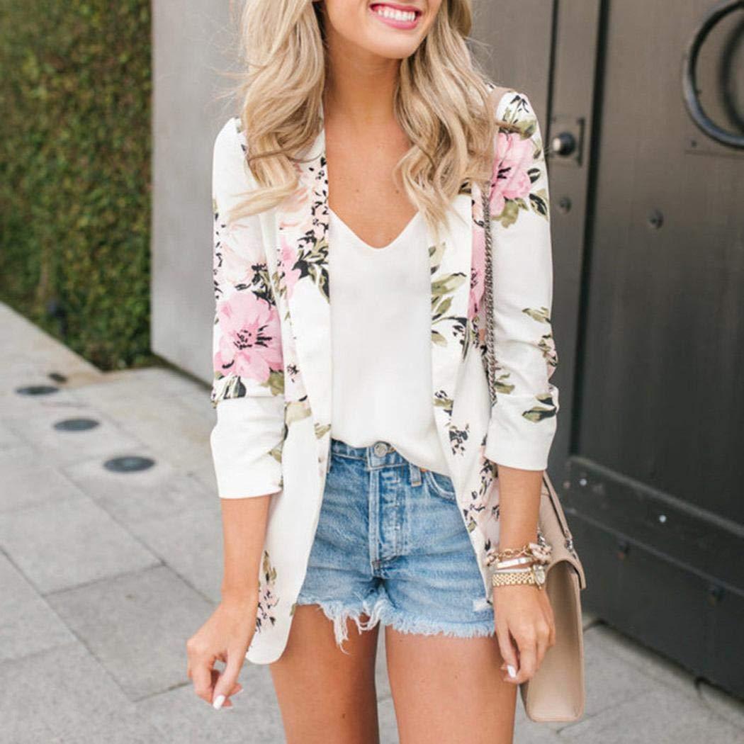 Kaimus Mode V À Décontracté Cou Nouveau Manches Femme Longues Floral Nn80mw