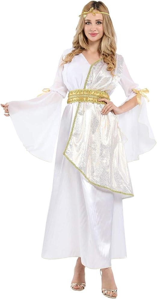 BESTSOON-TGA Disfraz de Princesa árabe de la Reina Athena Adulto ...