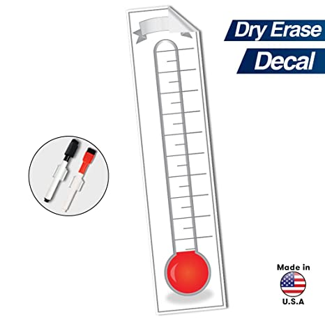 goal setting fundraising thermometer chart 48 x 11 company sales milestone tracking