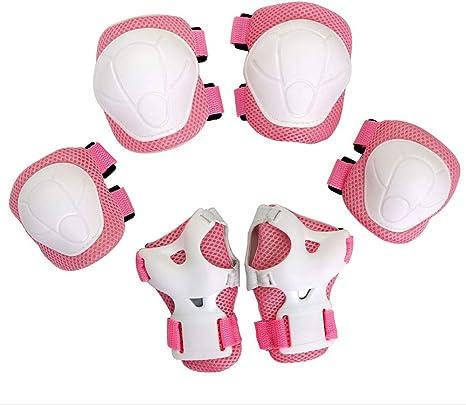 Ginocchiere Gomiti Polsiere Protettivo 7 Pezzi di Bambini Protezione Kit