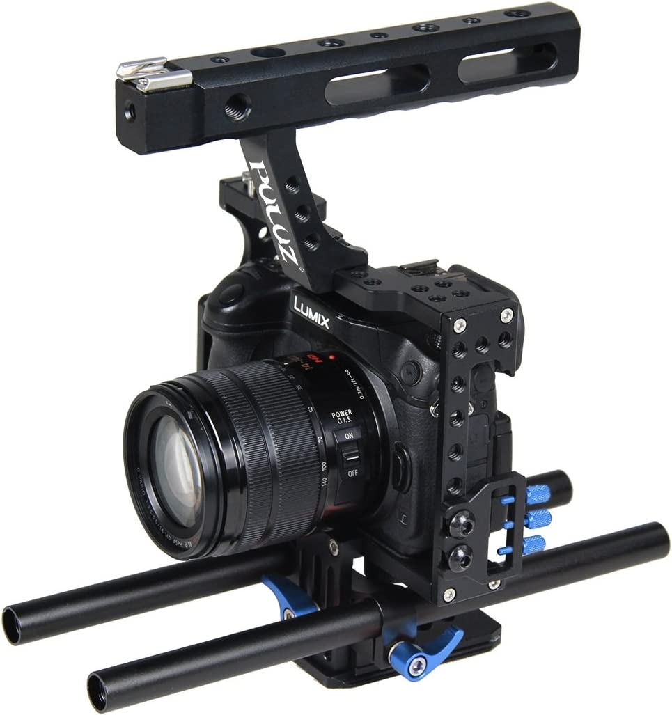 Panasonic Lumix DMC-GH4 Durable A7R II /& A7S II A7RIII /& A7 III Color : Orange Camera Cage Handle Stabilizer for Sony A7 /& A7S /& A7R
