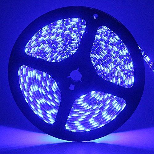 Grandview 12V DC Flexible LED Strip Lights, 16.4ft/5m LED Light Strips 300 Units 5050 LEDs Lighting Strips, LED Tape For Gardens/Homes/Kitchen/Cars/Bar/Boat-Blue
