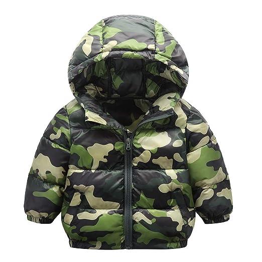 bf025c66e9ca Amazon.com  AMSKY Kids Baby Girl Boy Winter Camouflage Hooded Coat ...
