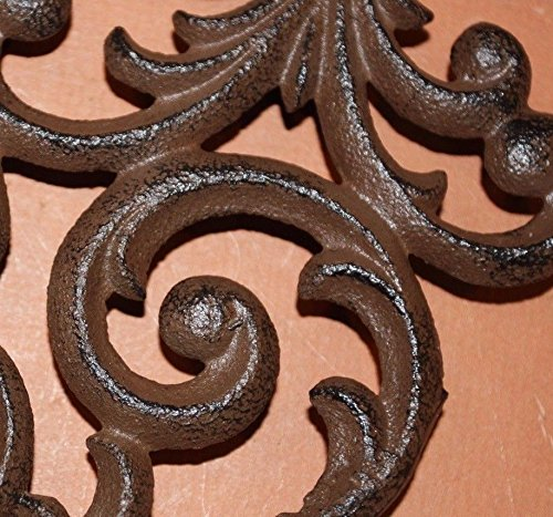 Southern Metal Set of 6 Victorian Shelf Brackets Solid Cast Iron Ornate Scroll Corbels, 9 1/4'' x 7 3/4'' Volume Priced, B-23 by Southern Metal (Image #4)