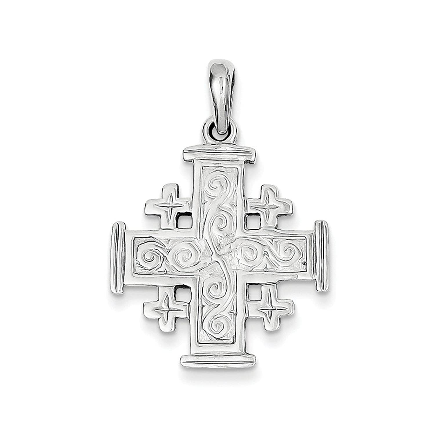 cross pendant jewelry reiss i jerusalem necklaces products enlarged necklace