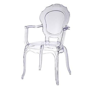 Broxster Chaise Design Cuisine Salon Salle Manger Matriau Transparent With De Amazone
