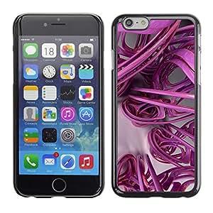 X-ray Impreso colorido protector duro espalda Funda piel de Shell para Apple iPhone 6 Plus(5.5 inches)- 3D Lines Abstract Plastic Art