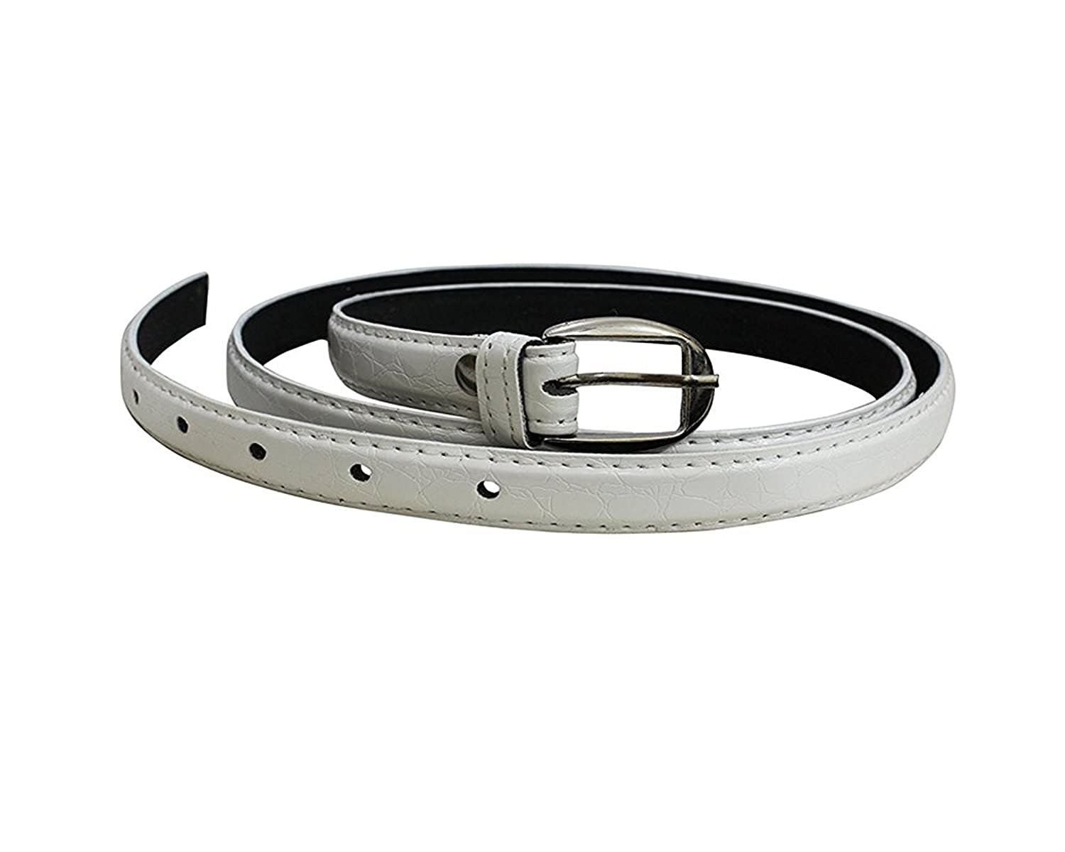 Krystle Girl's White PU leather belt ( White, Free Size)