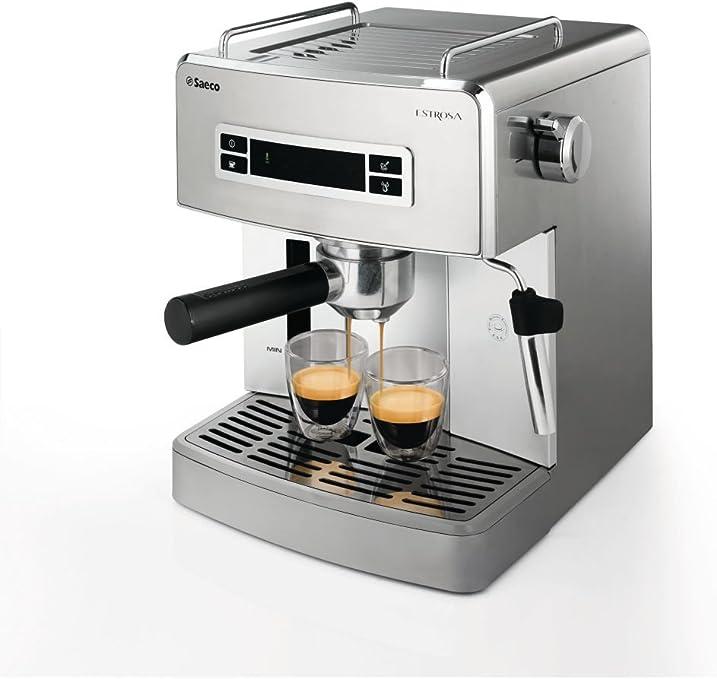 Saeco Estrosa - Cafetera (Espresso machine, Independiente, Acero inoxidable): Amazon.es: Hogar