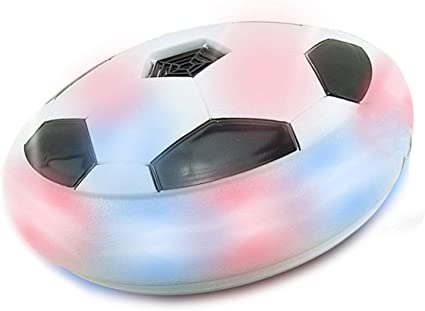 Indoor Outdoor Air Power Soccer Hover Disk Ultraglow with Foam Bumpers and Light Up LED Lights for Kids