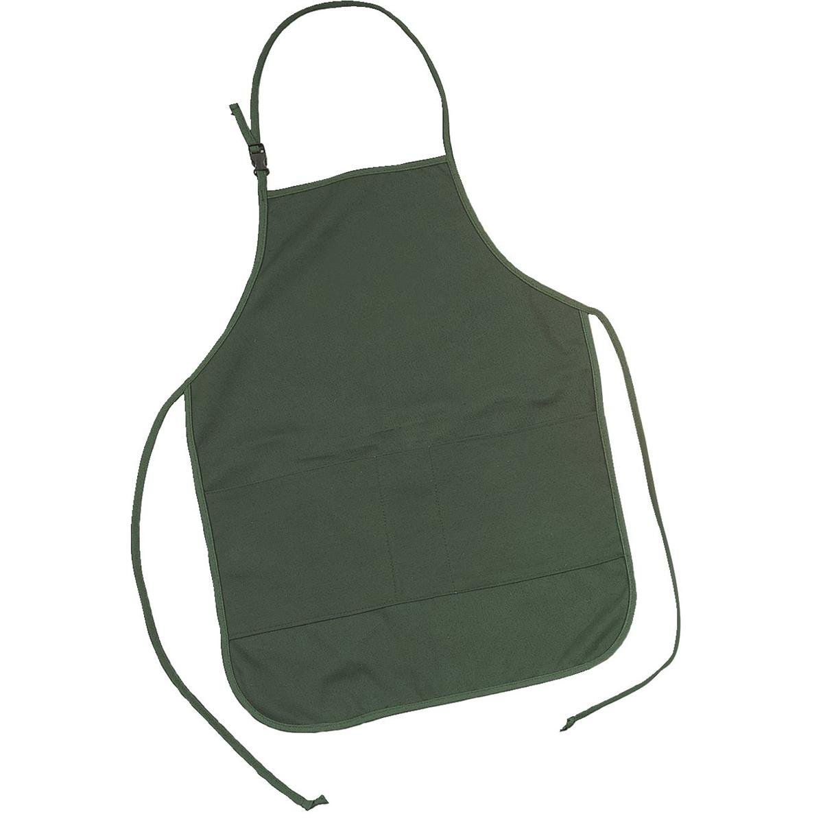 GEMPLER'S Heavy-Duty Cotton Duck Work Apron, Ideal for Garden Centers, Green Houses or Nurseries, Machine and Repair Shops, 26'' L x 21-1/2''W, Forest Green