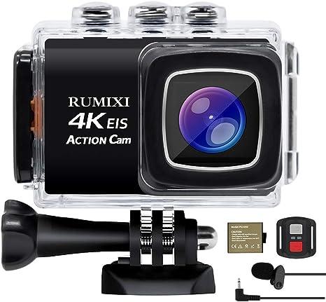 4K 30FPS HD Screen Anti-Shake Waterproof Sports WiFi Action Camera Sports Camera with Remote Control WiFi Camera