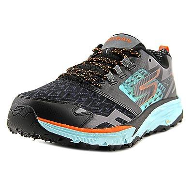 Skechers Women's GOtrail Running Shoe,Black/Aqua,US 5.5 M