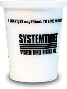 System Three 3105S16 White Silica Thickener, 1 Quart Tub