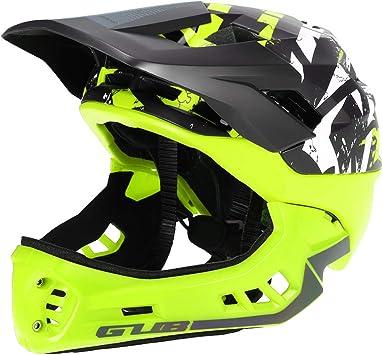 Blusea Casco Integral para Niños, Casco Modular Extraíble con Anti-cursor de Moto Esqui Bici Bicicleta Motocicleta Patinaje Cuesta Abajo Patinaje, Niño Niña (Verde - M): Amazon.es: Deportes y aire libre
