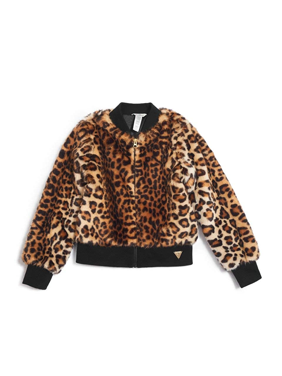 7-16 GUESS Factory Kids Girls Janice Leopard Bomber Jacket