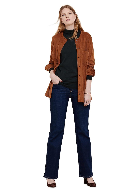 VIOLETA (Plus Size) - Überhemd aus Jacken veloursleder