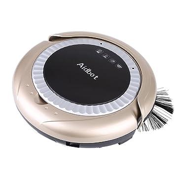 Robot limpiador, Robot aspirador inteilligent de limpieza para todos los suelos aspirador potente Sensor con