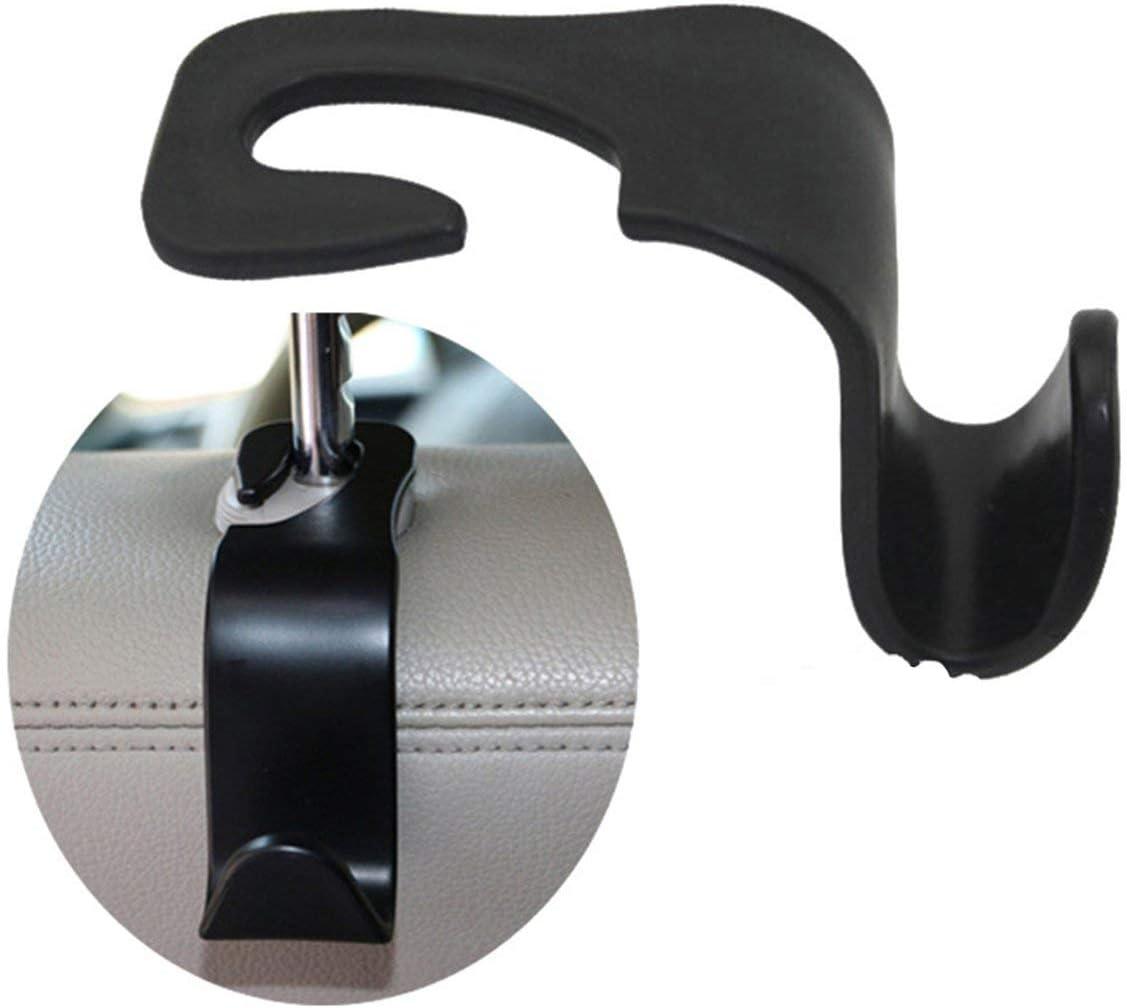 Asiento trasero Reposacabezas Creative Hook Organizador multifunci/ón Gancho para colgar Asiento Reposacabezas Soporte para coche universal SUV Negro Jasnyfall